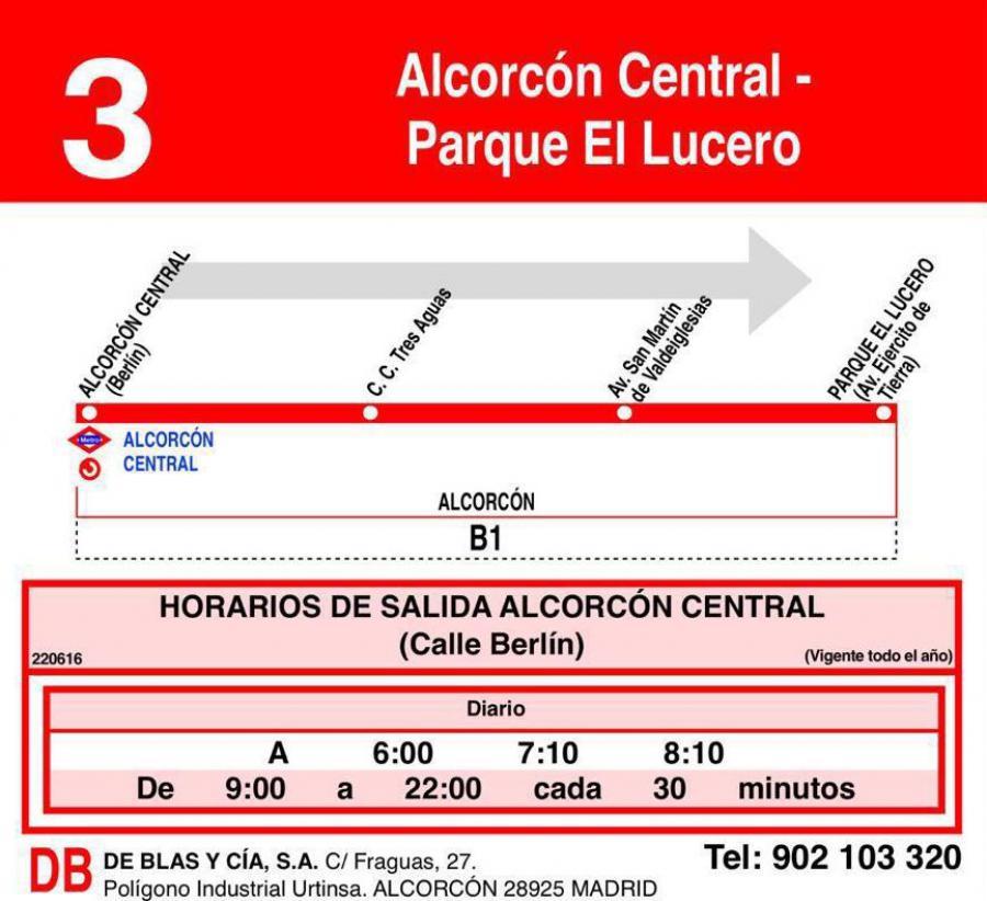Nueva línea de autobús que unirá #Alcorcón Central con Parque El Lucero, a partir de mañana