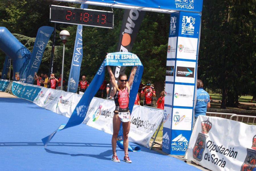 La bombero de #Alcorcón, Sara Bonilla, oro en el Campeonato de España de triatlón celebrado el pasado fin de semana en Soria @alcorconbombero