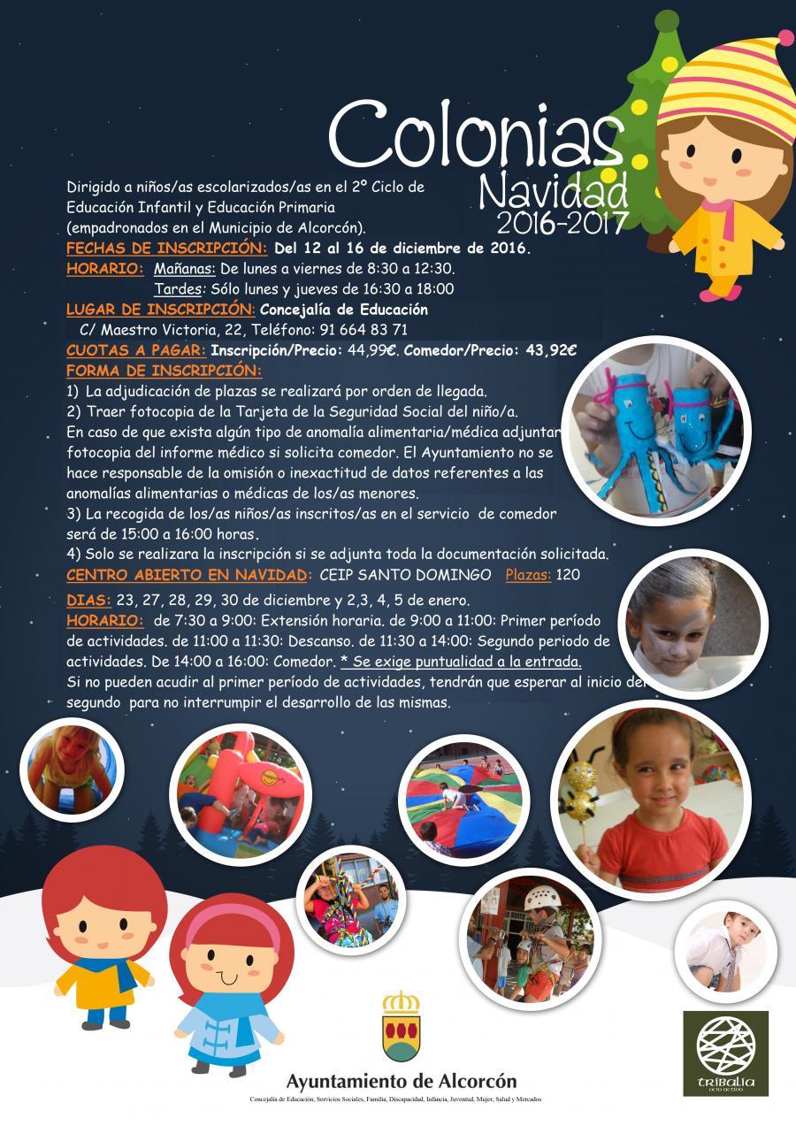 El @AytoAlcorcon oferta 120 plazas para las Colonias Escolares navideñas