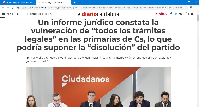 Captura 02 El Diario de Cantabria - Informe Juridico