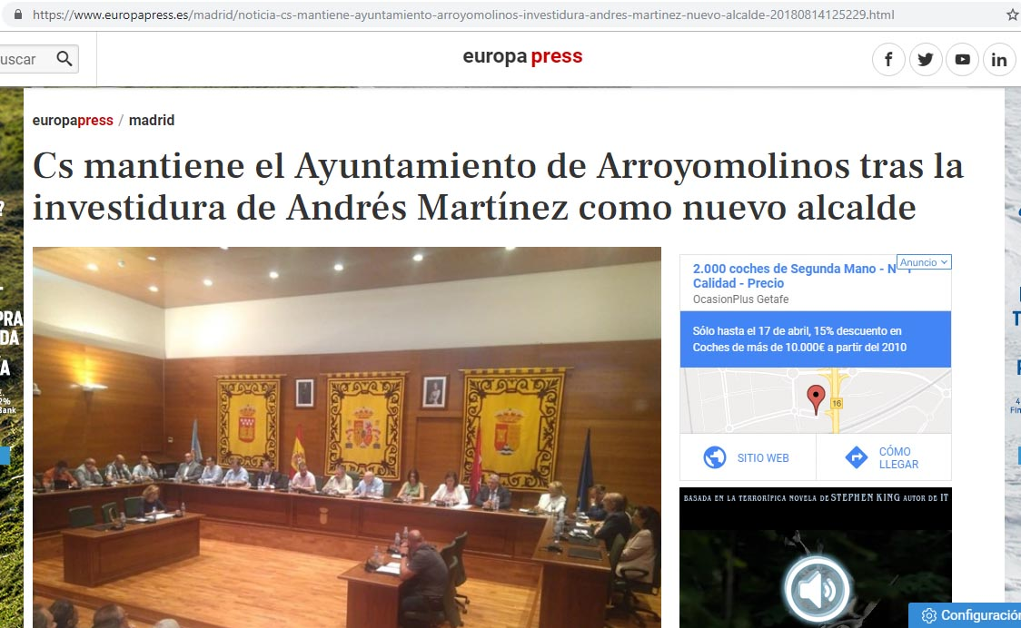 Captura web europa press