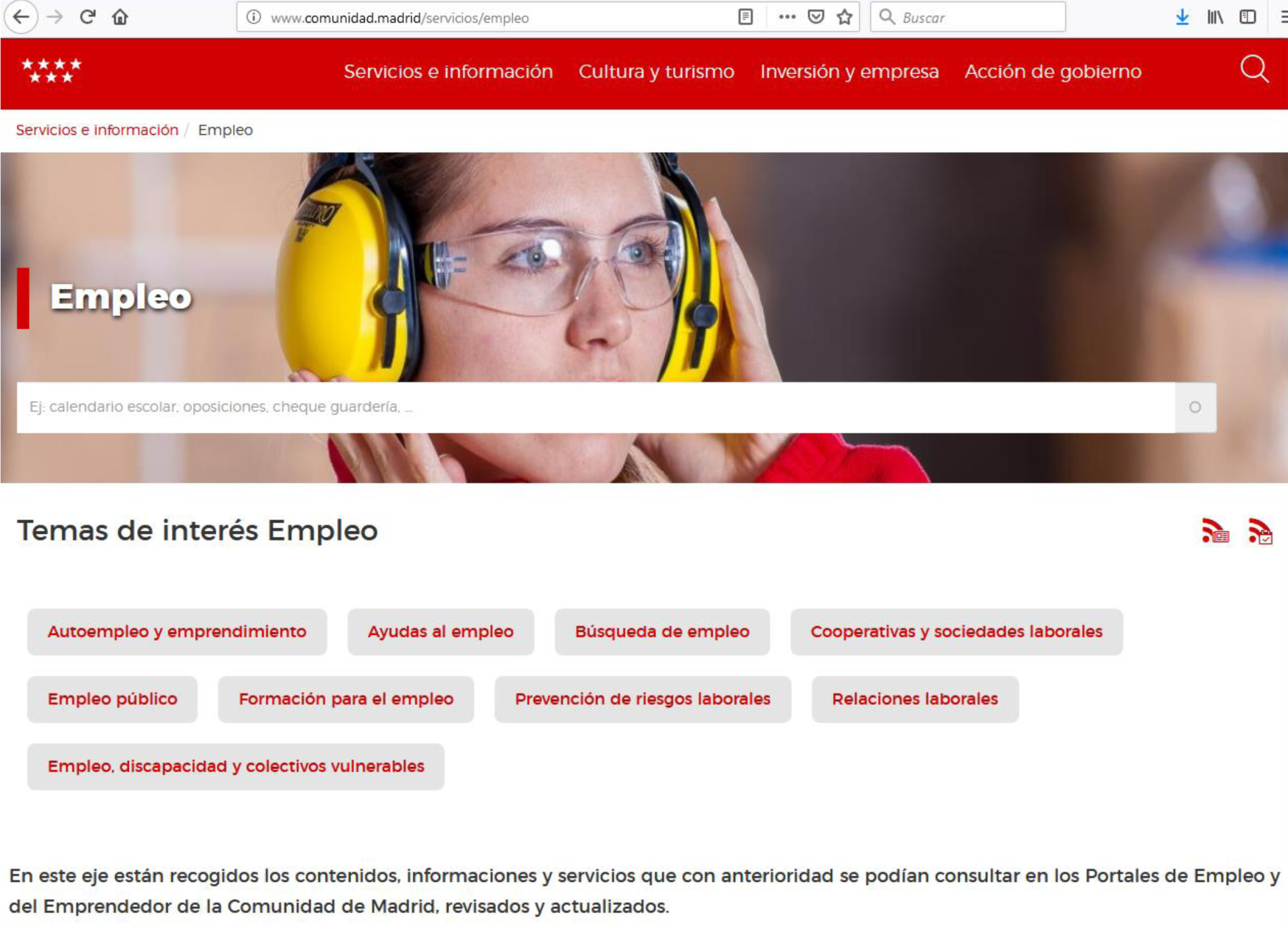 Portal Empleo Madrid