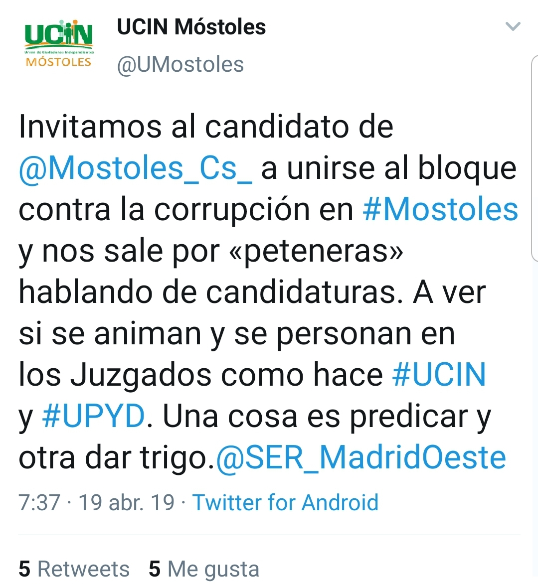 Twitter UCIN
