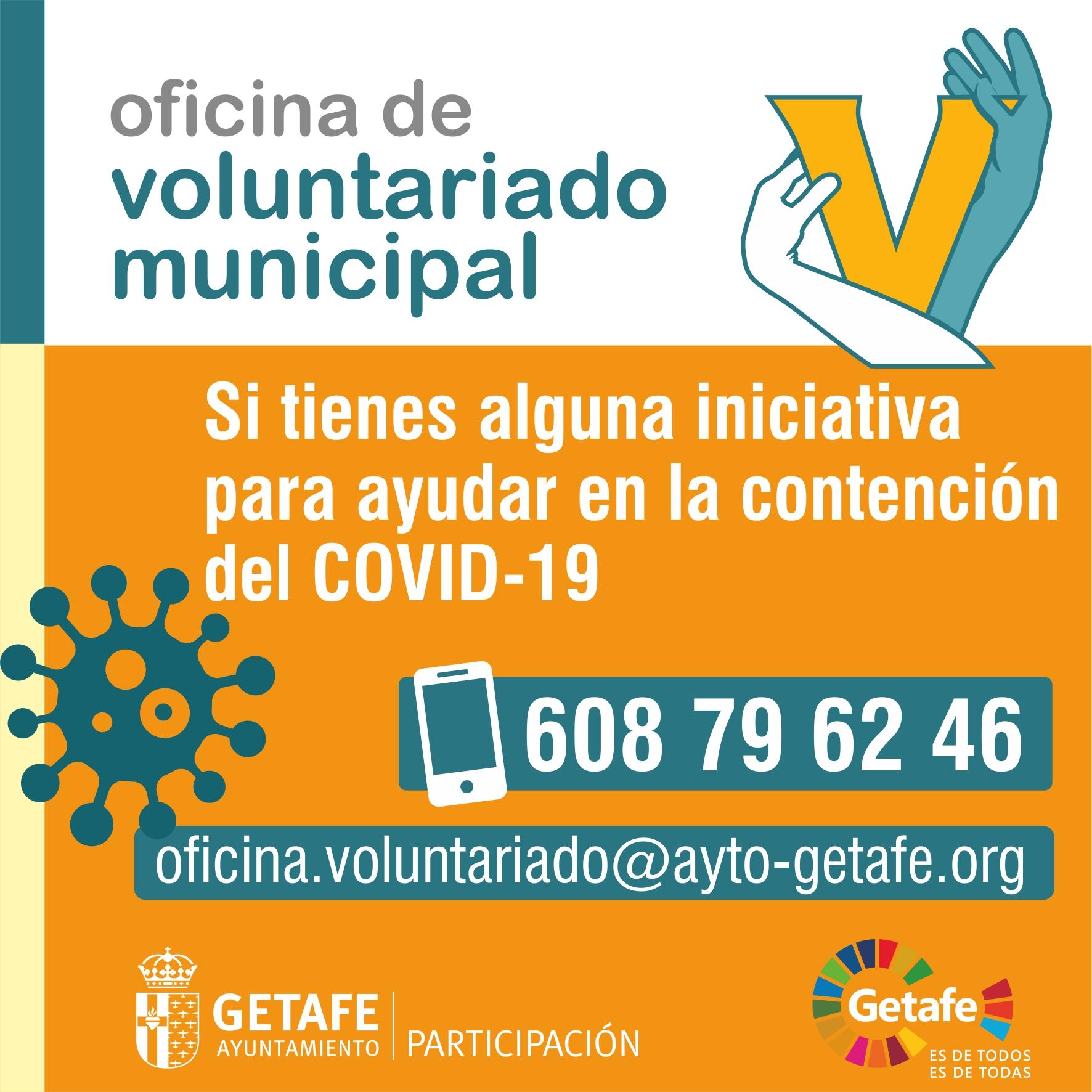Texto Alternativo: Getafe habilita la Oficina de Voluntariado para centralizar las iniciativas ciudadanas