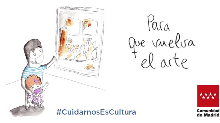 Texto Alternativo: El Gobierno de la Comunidad lanza Cuidarnos Es Cultura para promover el uso de la mascarilla en espacios culturales