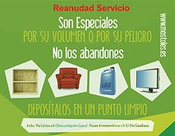 Texto Alternativo: Móstoles restablece el servicio de recogida de muebles y enseres y reabre los puntos limpios fijos