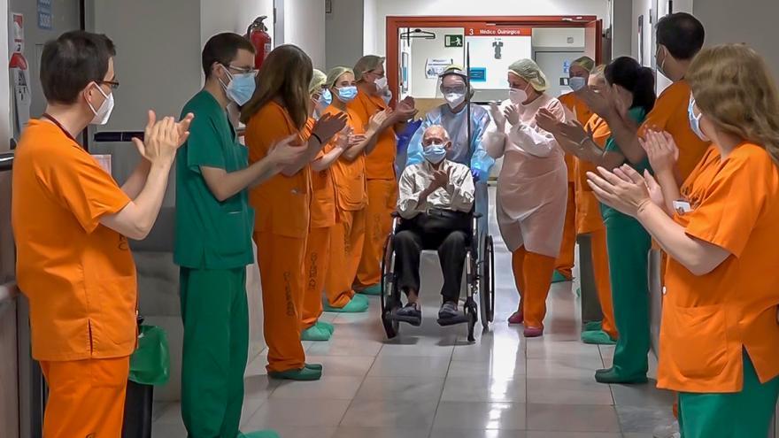 Texto Alternativo: El Hospital Gregorio Marañón supera las 2.000 altas hospitalarias de pacientes con Covid 19