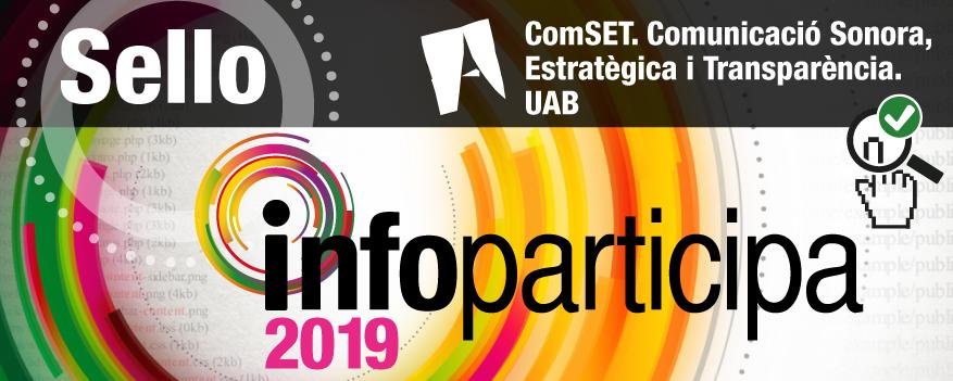 Texto Alternativo: El Ayuntamiento de Getafe obtiene el sello Infoparticipa 2019 de la Universidad Autónoma de Barcelona a la transparencia