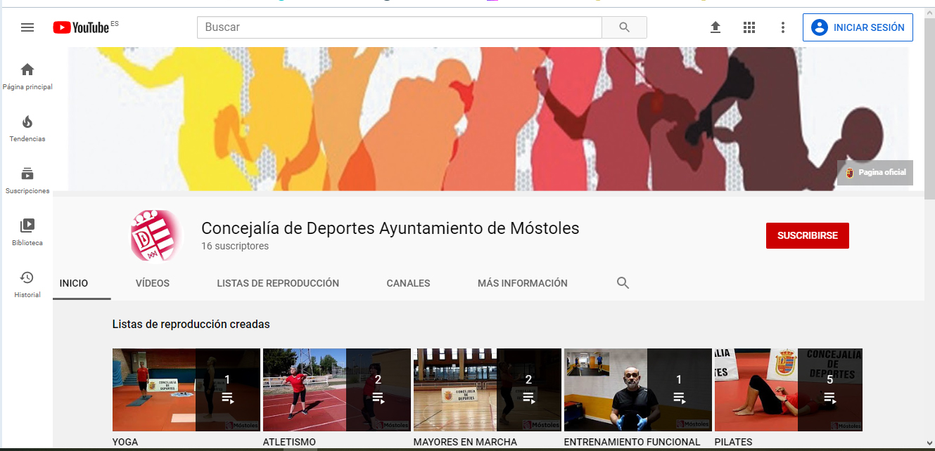 Texto Alternativo: El Gobierno de Móstoles ofrece programas de entrenamiento virtual durante la desescalada