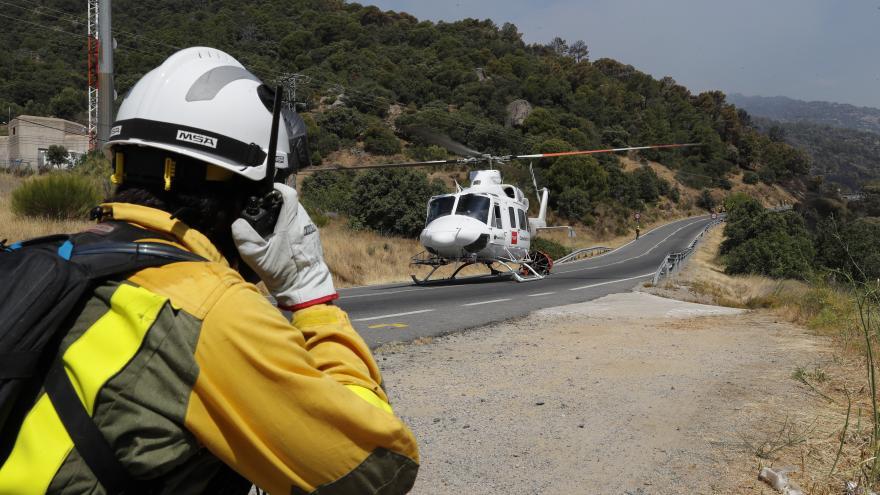 Texto Alternativo: Las brigadas helitransportadas ya operan en Morata de Tajuña, Valdemorillo y Navas del Rey