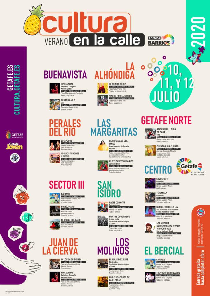 Texto Alternativo: Verano en la calle. Fin de semana 10, 11 y 12 julio