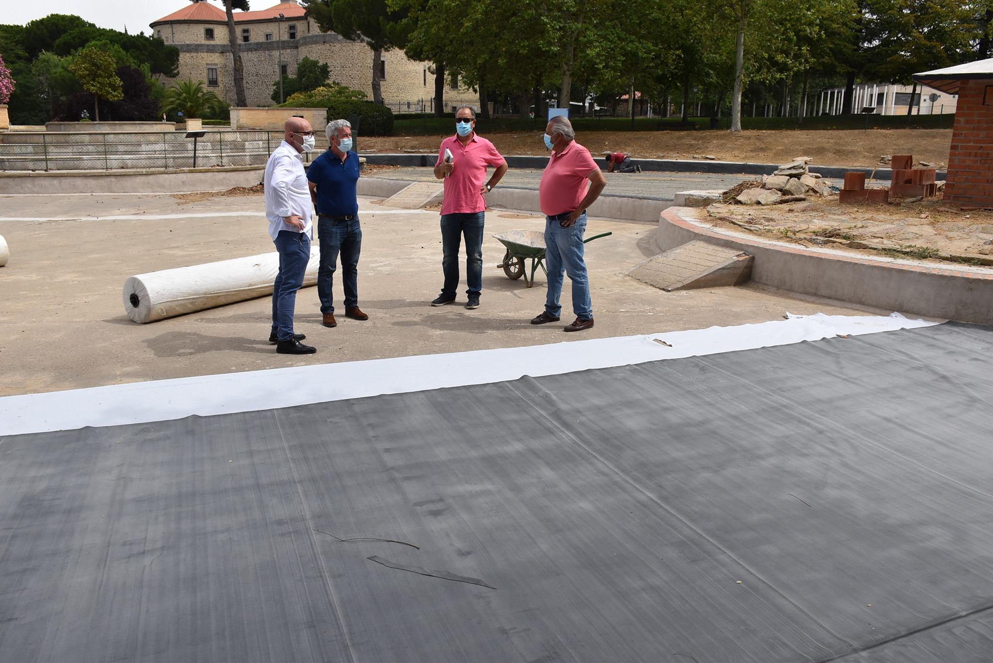 Texto Alternativo: Se reanudan las obras de remodelación del parque de El Castillo