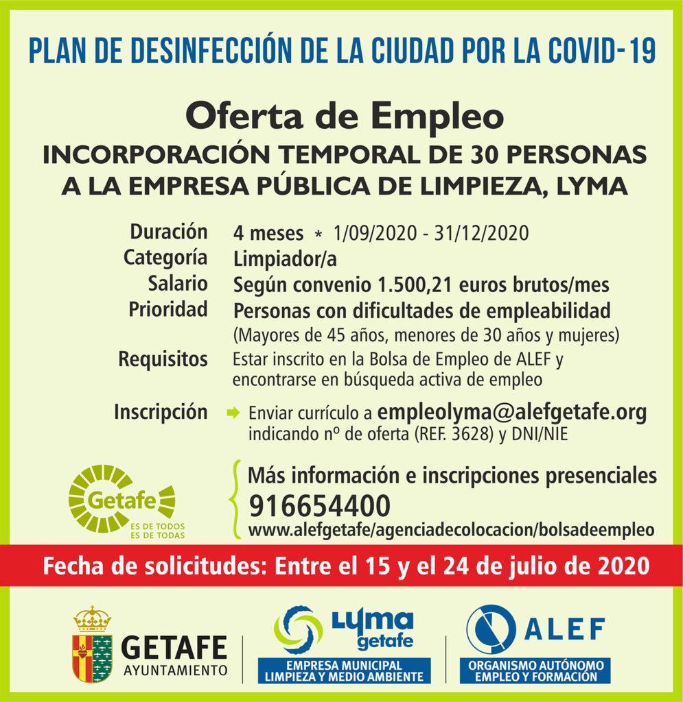 Texto Alternativo: Abierto el plazo de solicitudes para 30 empleos temporales en LYMA
