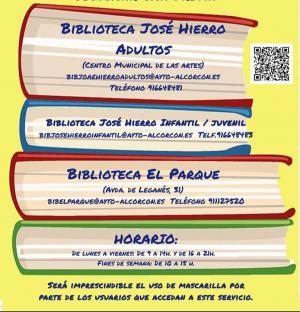 Texto Alternativo: Las bibliotecas municipales José Hierro y El Parque permanecerán abiertas durante el mes de agosto