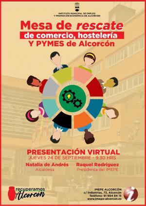 Texto Alternativo: Alcorcón impulsa una mesa para el rescate de comercio, hostelería y pymes