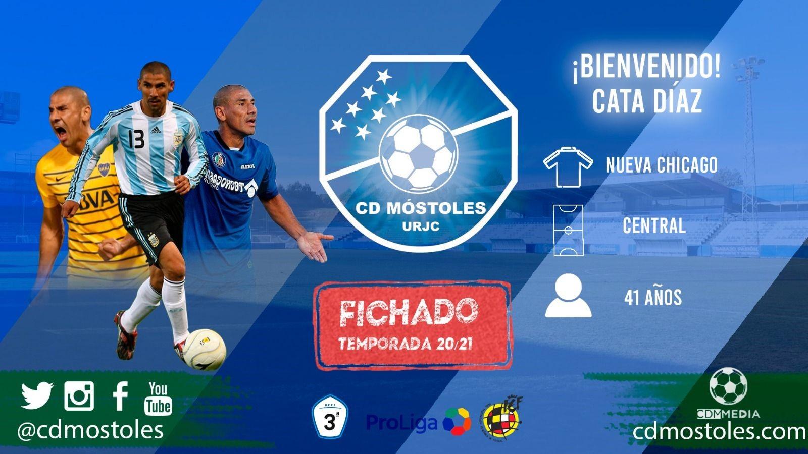 Texto Alternativo: Cata Díaz es nuevo jugador del CD Móstoles
