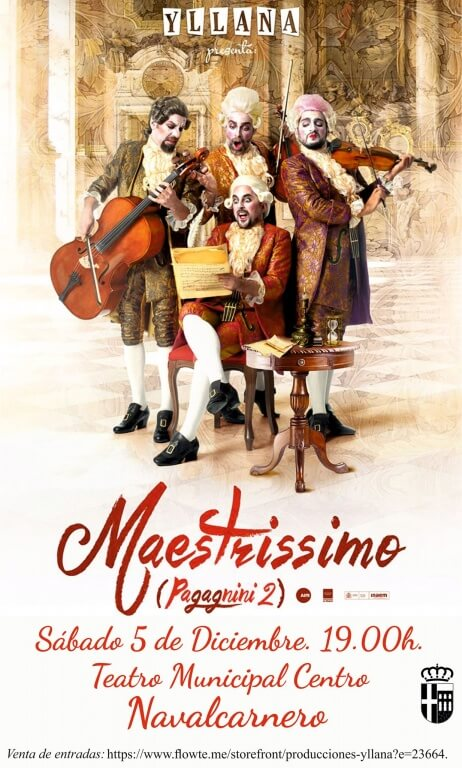 Texto Alternativo: Sábado, 5 de diciembre – Maestrissimo (Paganini 2) de Yllana