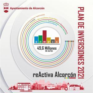 Texto Alternativo: Plan de Inversiones 2021 'ReActiva Alcorcón': 50 millones de euros para impulsar la reactivación económica de la ciudad con nuevos proyectos, infraestructuras y servicios