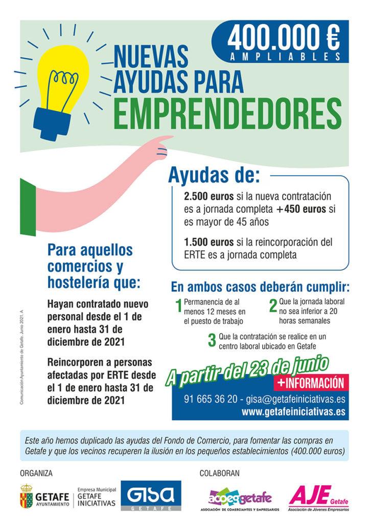Texto Alternativo: Getafe convoca nuevas ayudas de 400.000 euros para los negocios que generen empleo este año